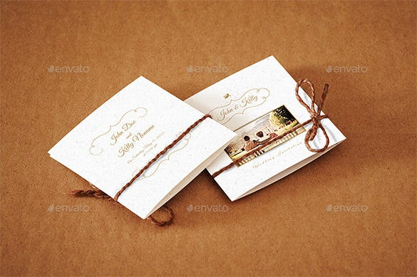 mini wedding invitation card psd template 7