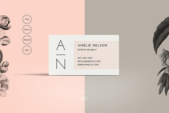 minimalist business calling card template