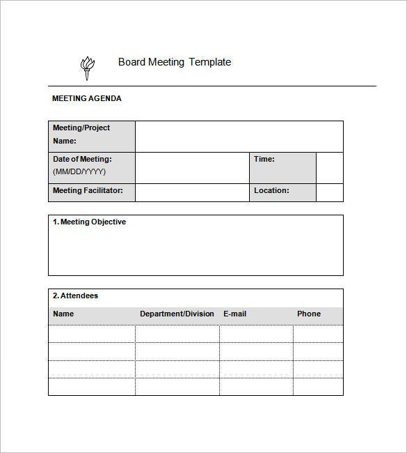 Minutes Meeting For Project  Free Sample Minutes Of Meeting Template