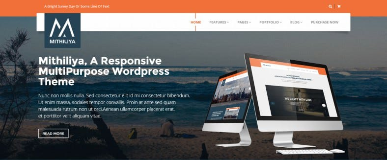 mithiliya responsive business wordpress theme 788x327