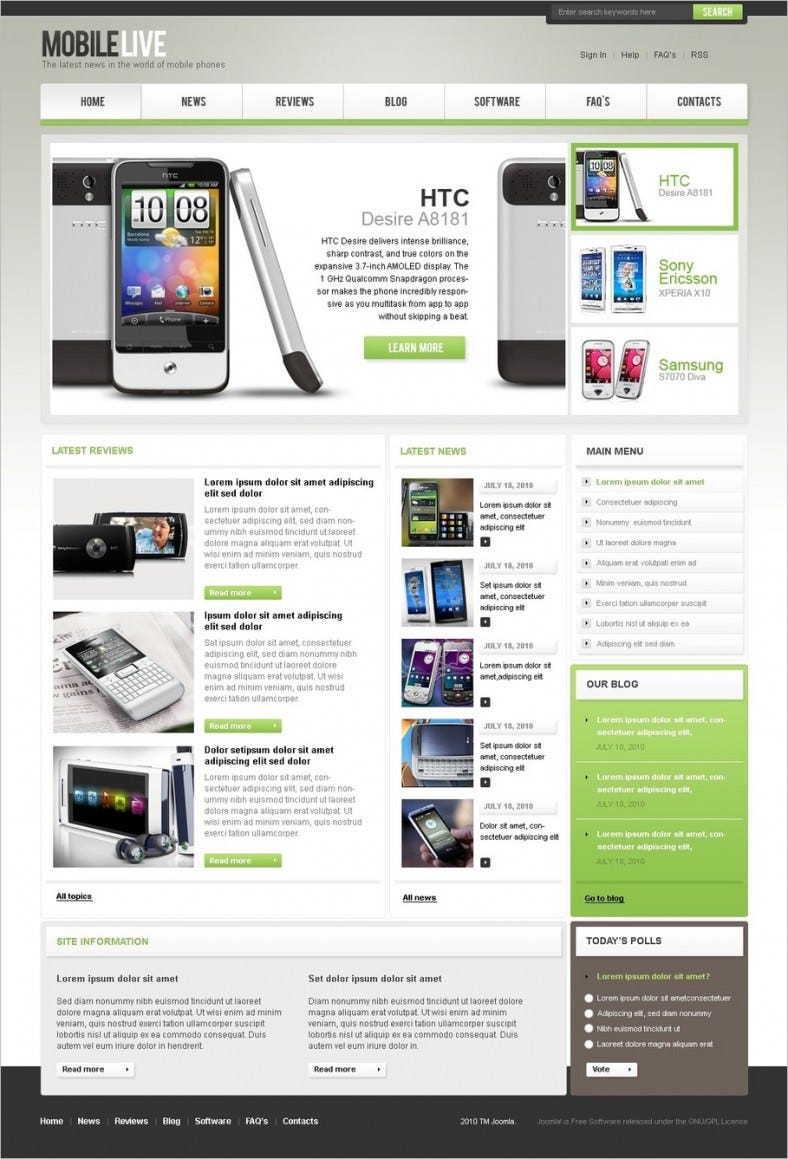 3 mobile store joomla templates themes free premium for Jooma templates