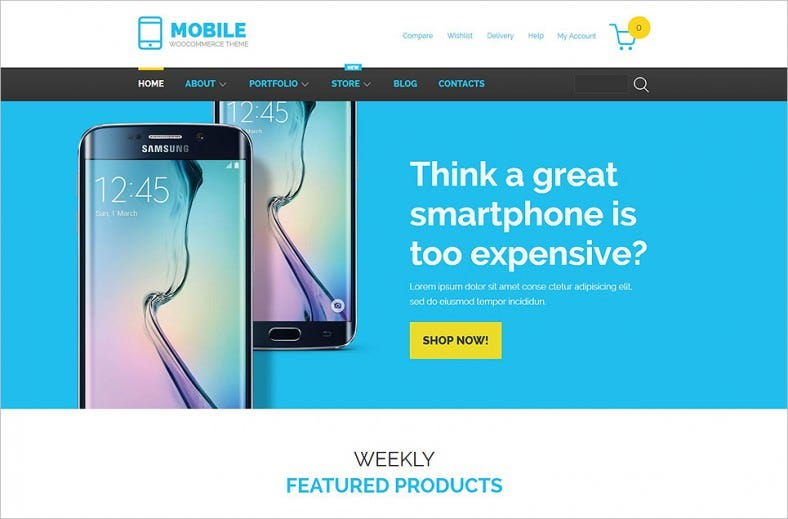 mobile technology store woocommerce theme 788x519