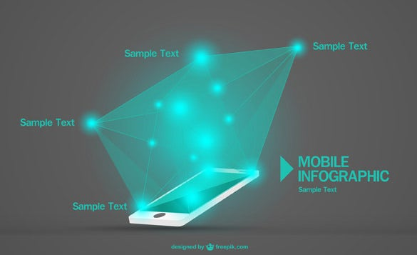 mobile vector infographic template download