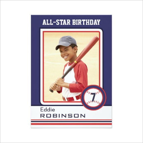 Baseball card template 9 free printable word pdf psd for Baseball card size template