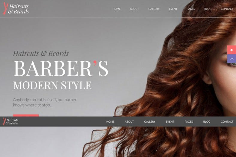 Modern Barbershop HTML5 & CSS3 Website Template