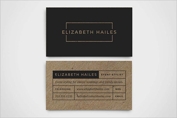 modern business contact card template 10