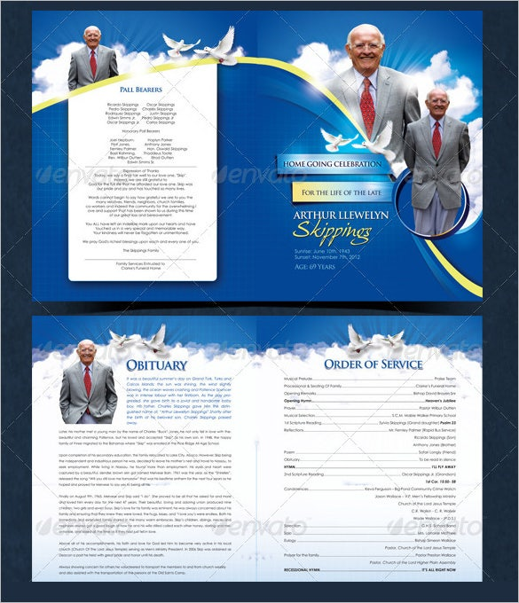 modern death funeral program template