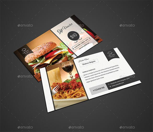 modern gift card template psd download