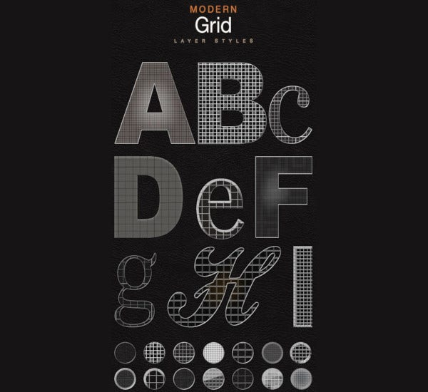 modern grid layer styles