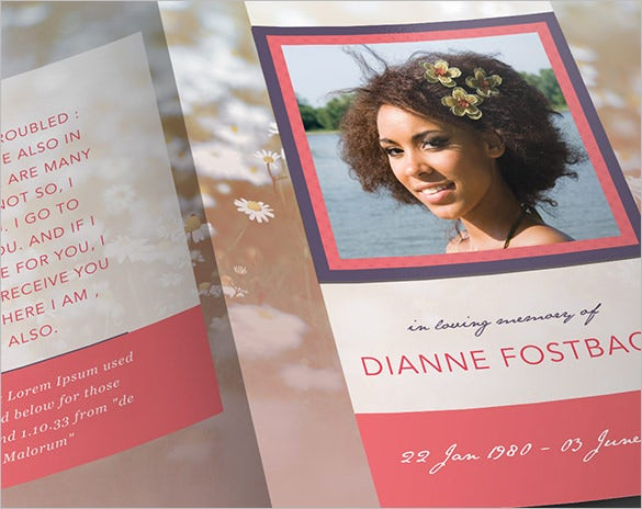 Obituary Program Template – 19+ Free Word, Excel, PDF, PSD, PPT ...