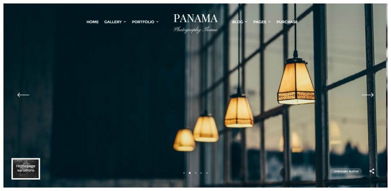 Modern Portfolio Wp Theme for Photographers