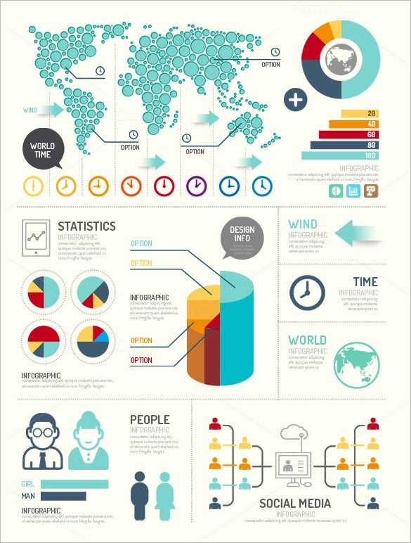 modern premium infographic element design
