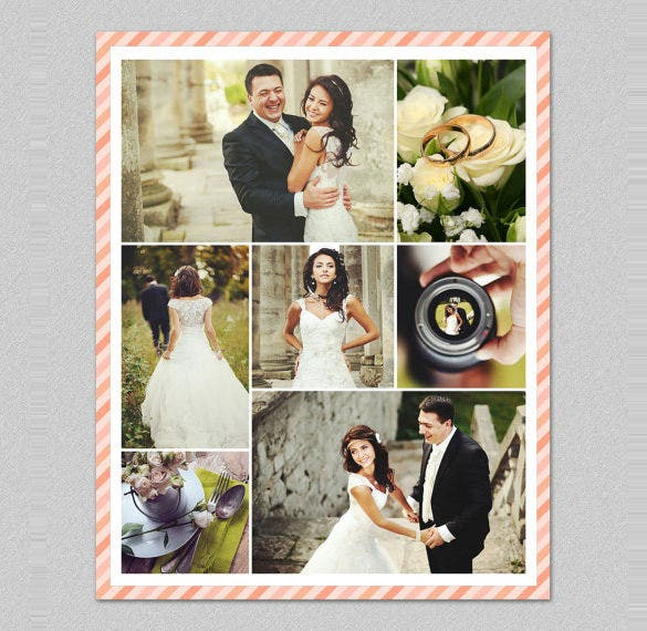modern wedding storyboard collage template download