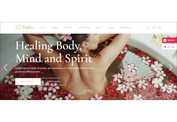 modern wellness cosmetics theme