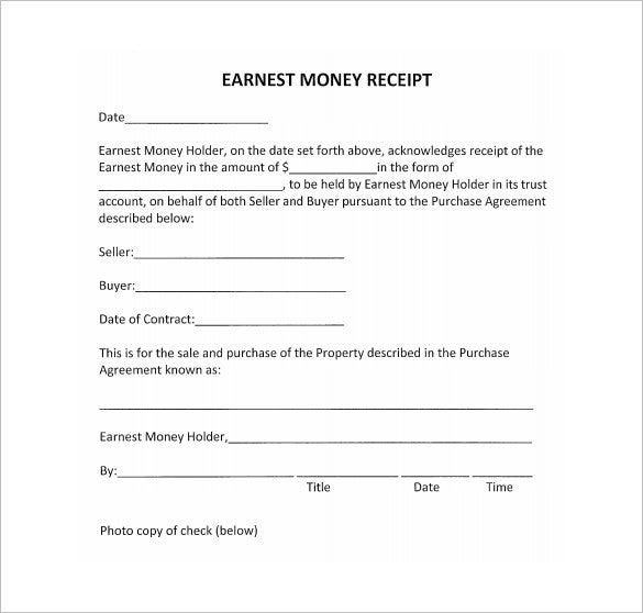 Receipt Template 90 Free Printable Word Excel PDF Format – Money Receipt