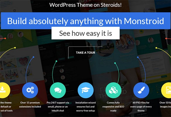 monstroroid wordpress theme
