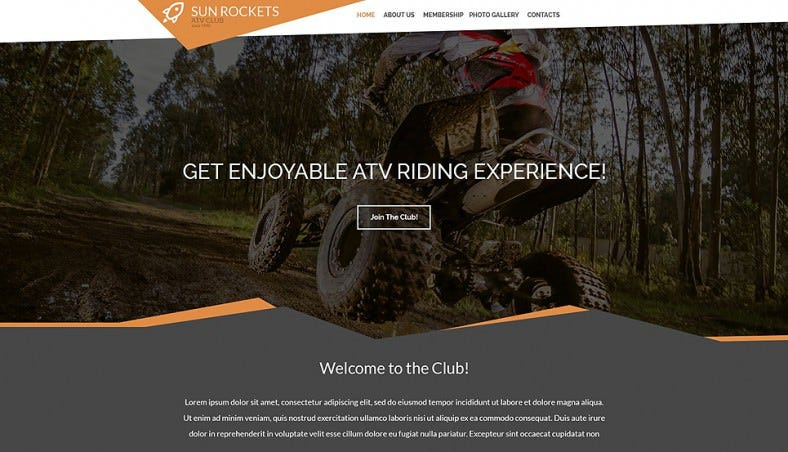 motor sports racing responsive website template 788x452
