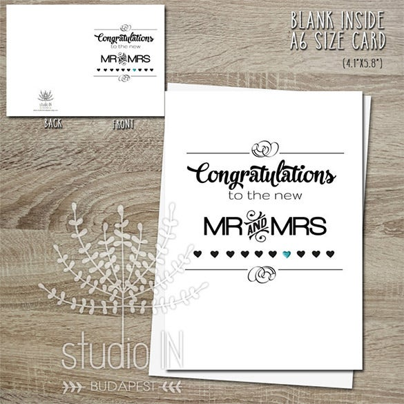 mr mrs wedding congratulations card
