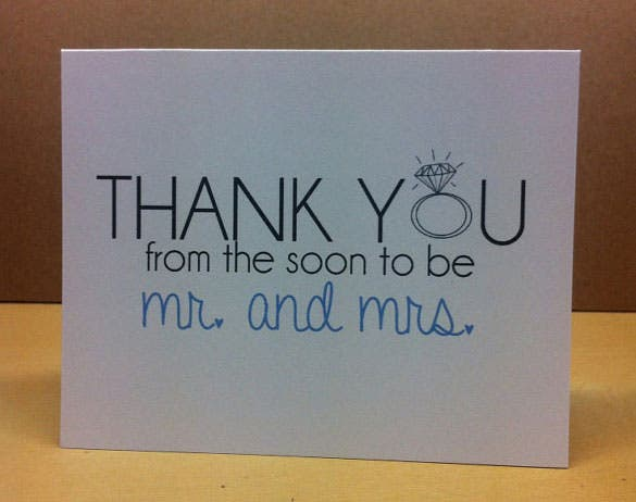 mr and mrs thank you card printabledesign