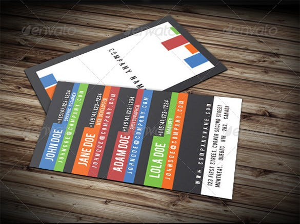 multi contact business card 6