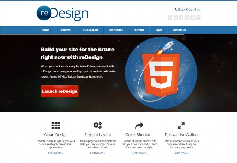 Multi-Purpose HTML5CSS3 Business Theme