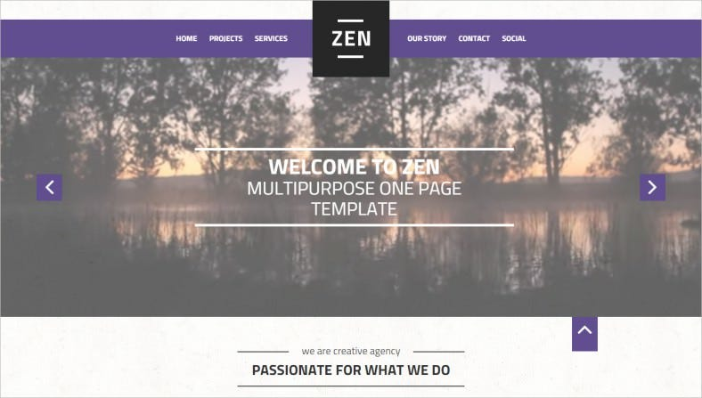 Multi-Purpose HTML5 jQuery One Page Template
