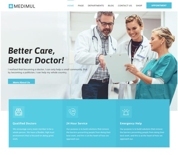 multi purpose medical health wordpress theme