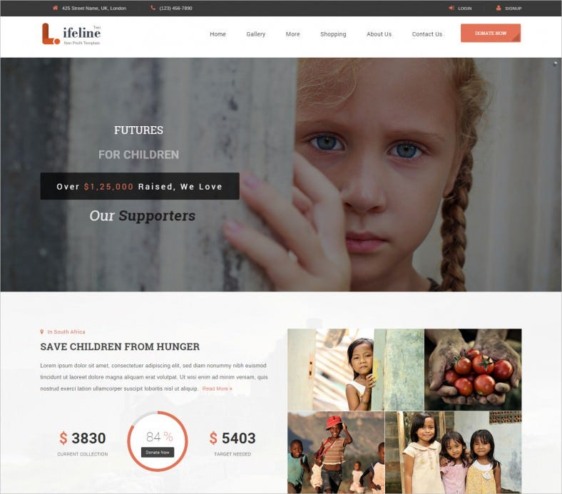 multi purpose non profit html website template 788x693