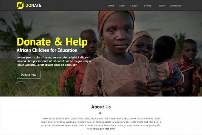 Multi Purpose Nonprofit HTML Site Template