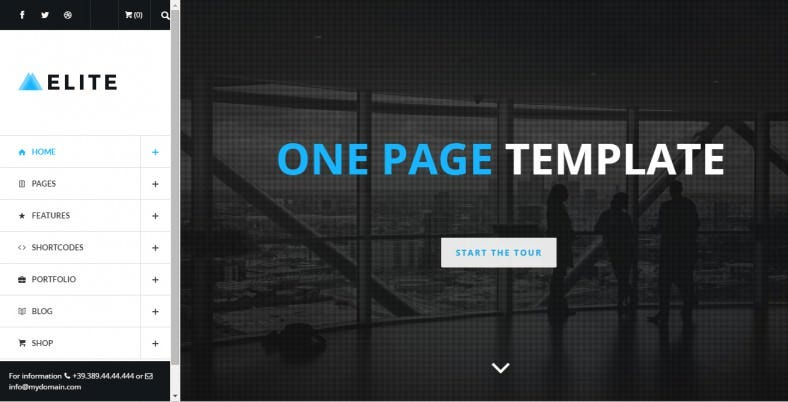 Multi-Purpose One Page WordPress Template