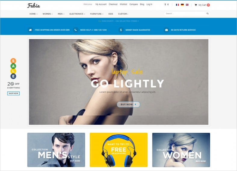 Multi Purpose Responsive ECommerce Joomla Theme