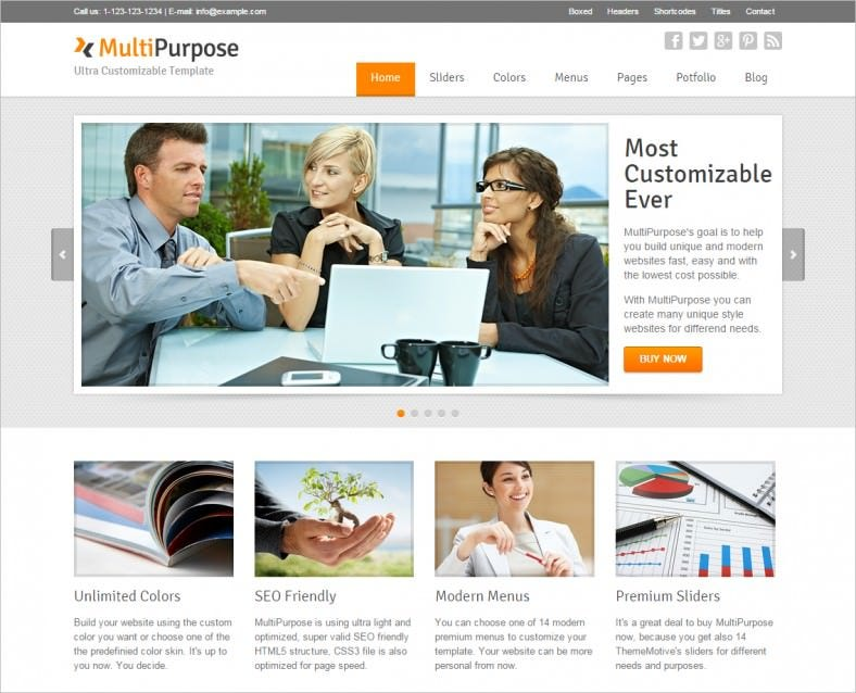 multipurpose responsive html5 website template 788x638