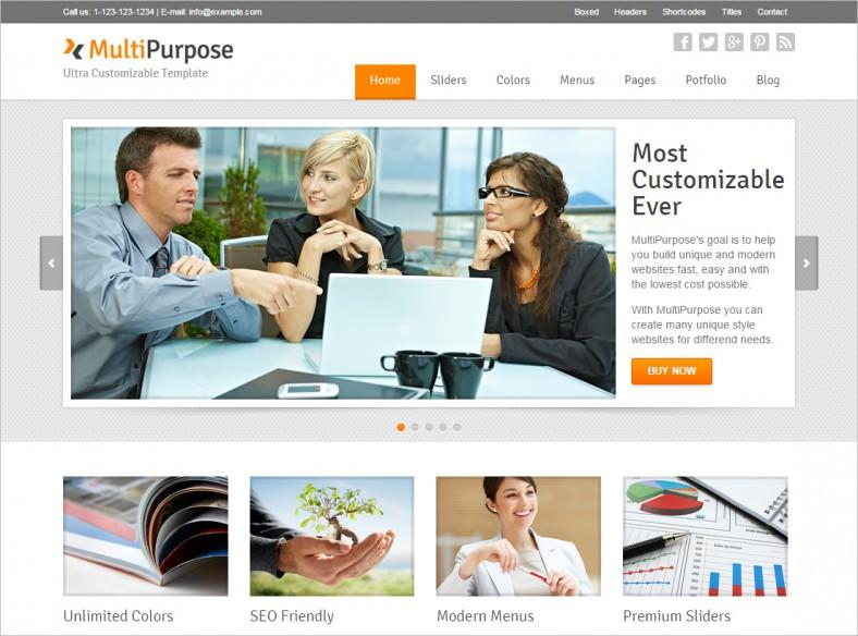 multipurpose responsive html5 website template1 788x584