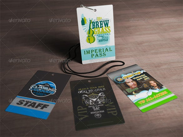 multipurpose hanging membership card mockup
