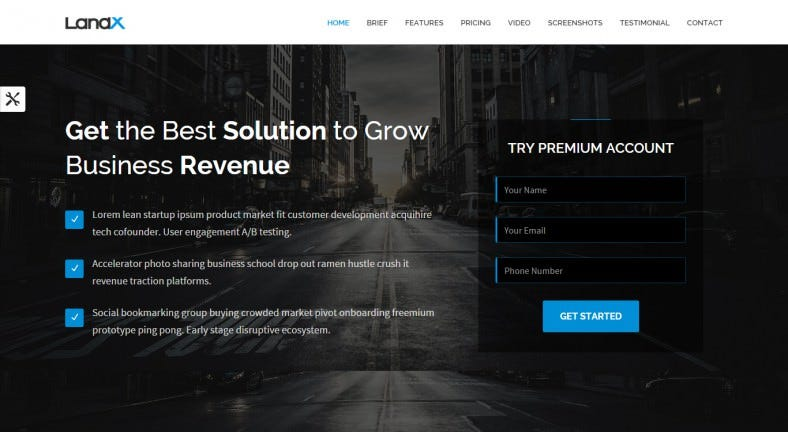 12 Popular Bootstrap Landing Page Templates Free