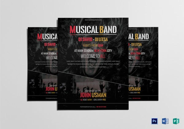 music-band-flyer-template