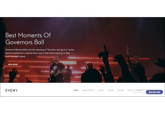 music event gallery wordpress theme