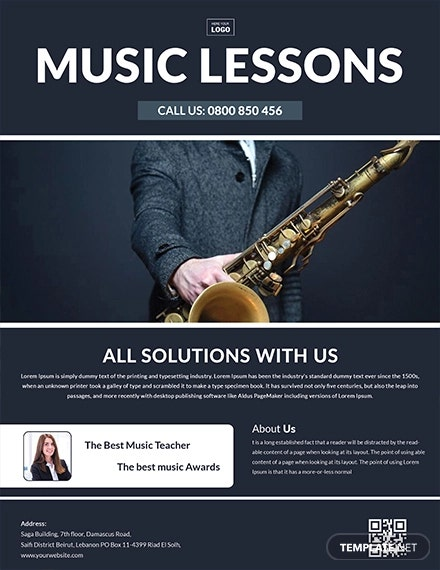 music learning flyer template 1
