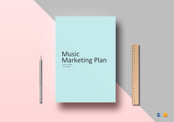 music marketing plan word template