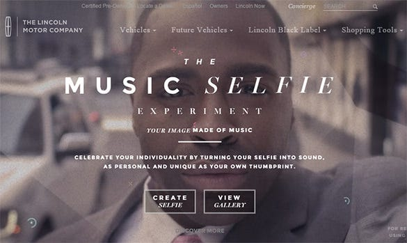 music selfie website design idea download