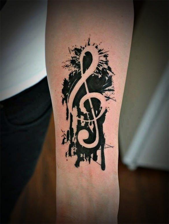 music tattoo on hand template1