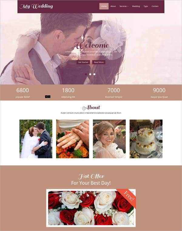 my wedding flat bootstrap responsive web template1