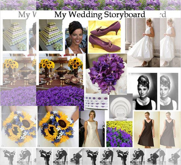 8  wedding storyboard templates