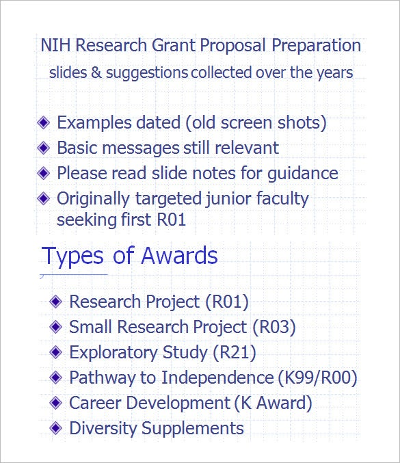 nih research grant proposal ppt