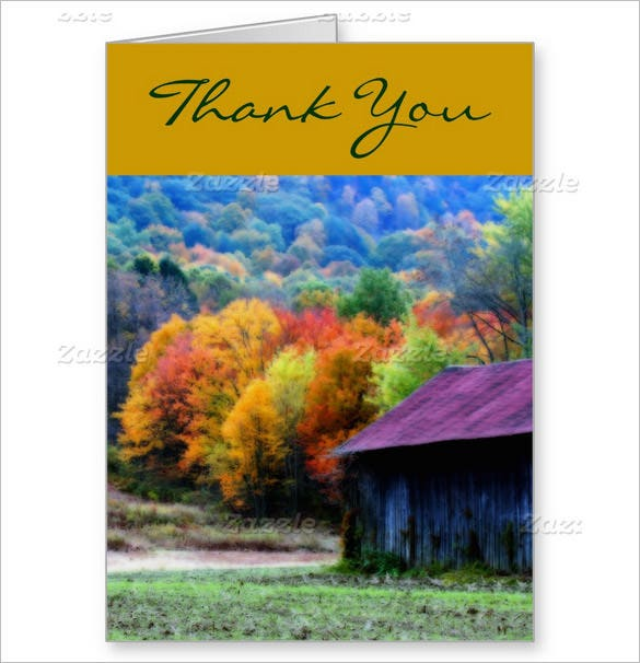 nature photography thank you card template