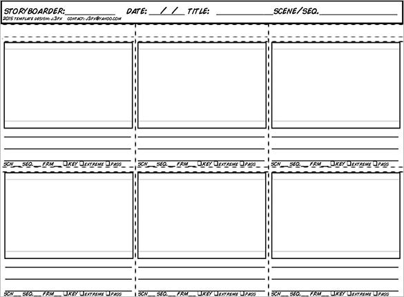 new animation storyboard template for 2015