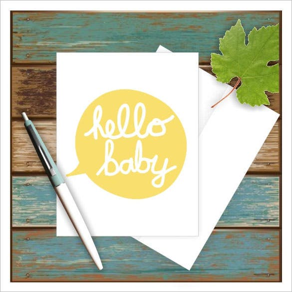 new baby greeting baby shower card template
