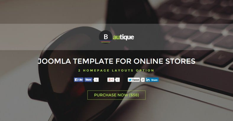 New Joomla Template for Online Stores