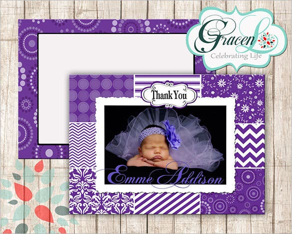 newborn baby thank you card