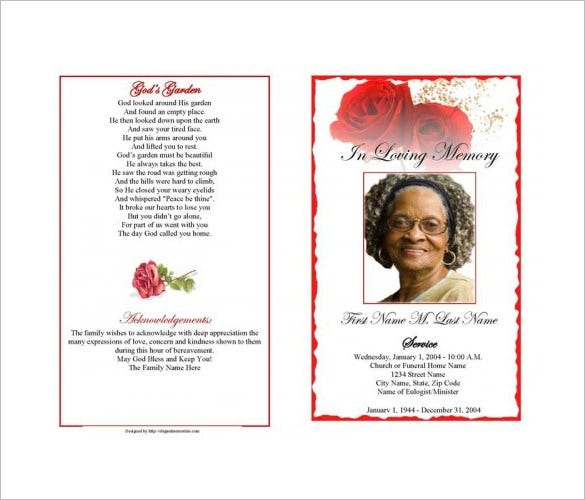 newspaper death announcement obituary template